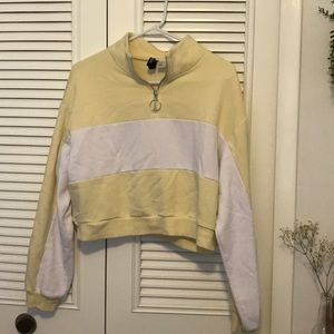 pale yellow quarter zip
